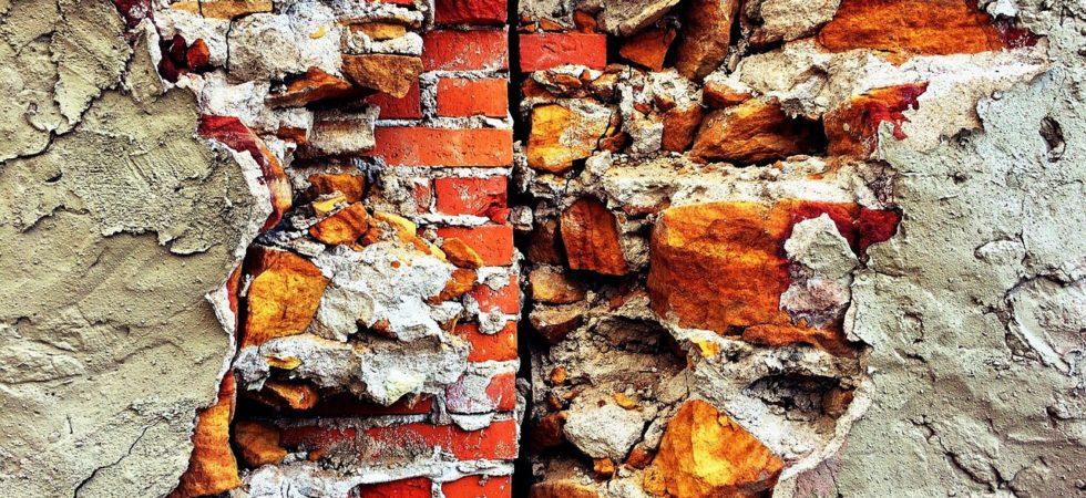 ściana murowana